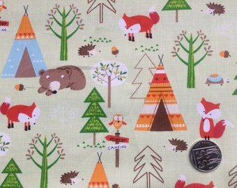 Spring Green Woodland Fabric
