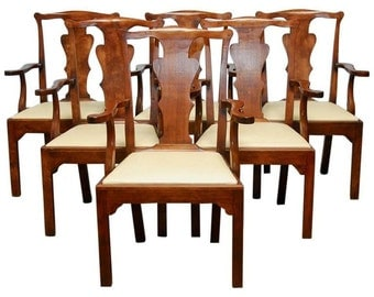 Set of Six George III Walnut Dining Chairs