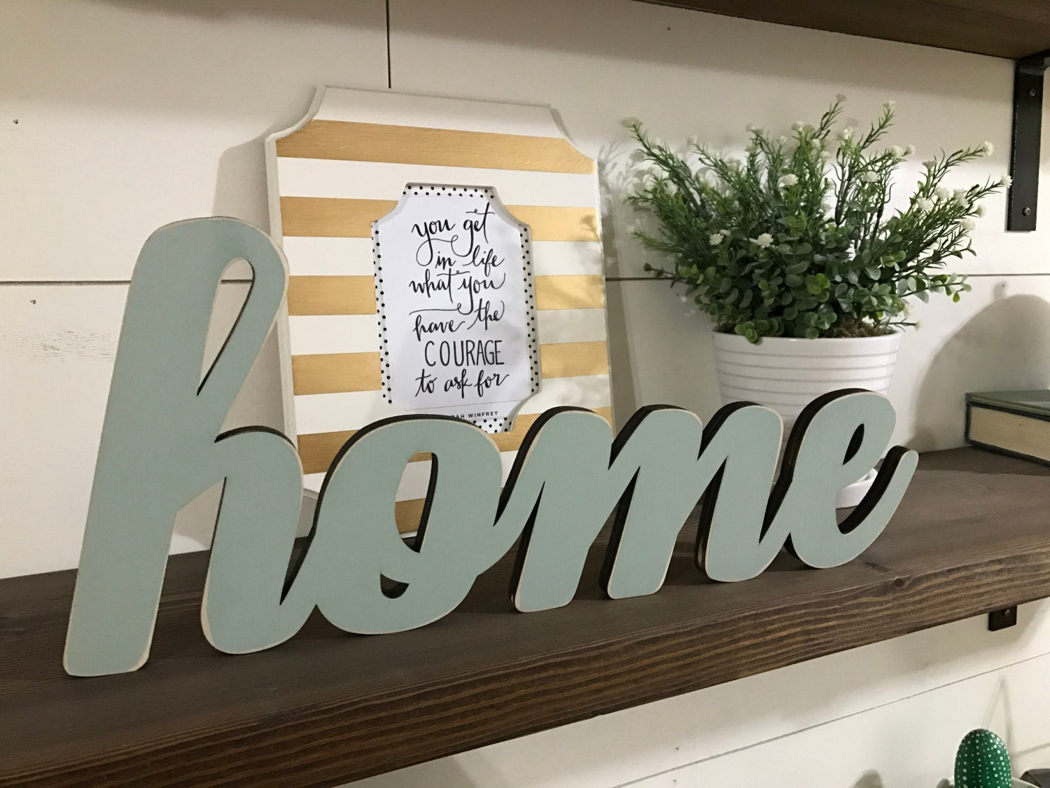 Home wood word cutout laser cut word custom cursive word zoom amipublicfo Choice Image