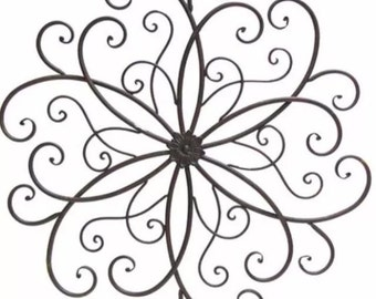 Large swirled Metal Medallion Wall Hanging