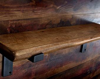 Rustic Industrial Shelf Shelves Metal Storage