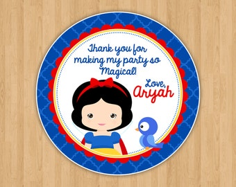 Snow White Favor Tags
