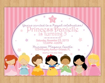 Disney Princess Inspired Birthday Invitation