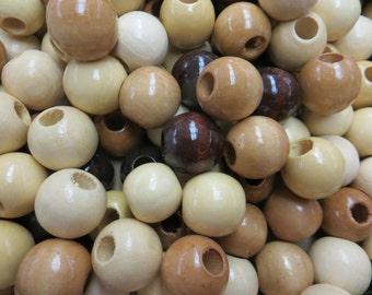 """7/8"""" wood beads (100)"""