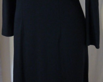 SYBILLA long black dress -  size 40 -