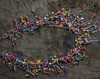 Collar women, balls, beaded, handmade in Quebec, gift, mother's day, exclusive jewel