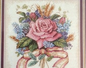 Sweetheart Sale Rose Bouquet Counted Cross Stitch Kit  6 x 6 Dimensions Gold Petites 6995