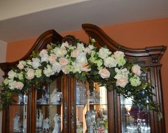 Wedding Arch, Coral Arch, Wedding Arch flowers, Arbor Flowers, Silk Arbor Flowers, Wedding Arbor Flowers, Arch Ceremony Flowers