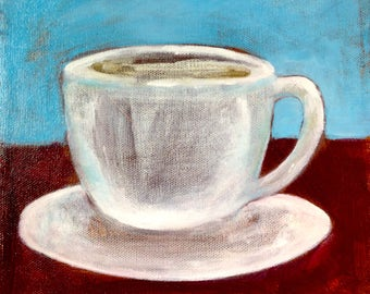 Large Cup of Coffee Original Painting