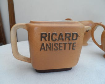 Retro original French Stoneware Ricard Pastis Water Jug  – Ricard Oblong in shape