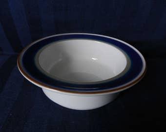 Fine porcelain soup / breakfast bowl by Porsgrund Norway with handpainted Saga decoration designed by Sandnes Eystein 1980s edition MINT!