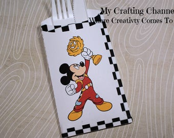 Mickey Mouse 2 Roadster Racer Flatware Pouch Sets-Mickey-Mickey Roadster Racer-Silverware Pouch-Flatware Pouch-Mickey Mouse