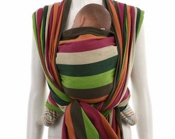 Woven Baby Wrap - Daiesu Bougainvillea Stonegrey - Baby Wrap - Baby Carrier - Woven Wrap Baby Carrier