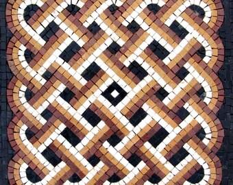 Tri-Colored Art Tile - Woven Wonders
