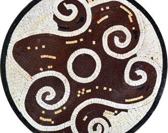 Modern Mosaic Artwork Tile - Whirlwind