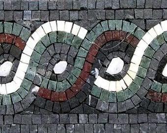 Geometric Rope Mosaic Border