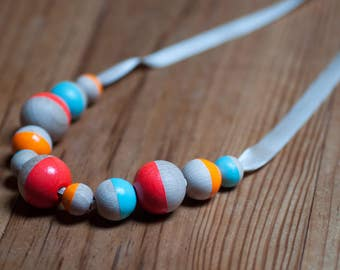 Bubblegum - Geometric pastel and neon necklace