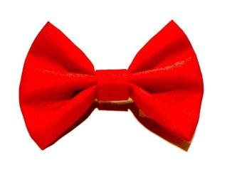Red Boys Clipon Bowtie, Childrens Bowtie Clip on, Infant Bow tie