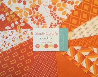 On Sale--Simply Colorful Layer Cake by V and Co. for Moda Fabrics