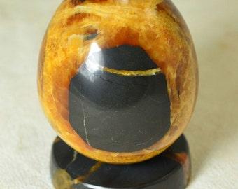 SIMBIRCITE Egg with stand 75 mm Mineral specimen handmade ammonite #5775 - RUSSIA