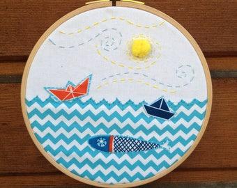 Embroidery  sea