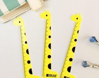 Cute Stationery Ruler- Yellow Giraffe, Kawaii