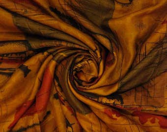 Long Pure Silk Fabric Vintage Saree Indian Traditional Wrap Dress Sari Antique Decorative Recycle Material 5YD PSS1239