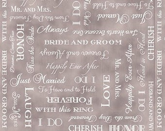 Wedding Words Fabric