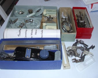 Sewing Machine Parts / One Lot Parts / Westinghouse Buttonholer / New Home Hemstitcher / Kenmore Parts / Various Machine Parts