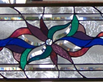 Stained Glass Window Hanging 35 1/2 X 9 3/4