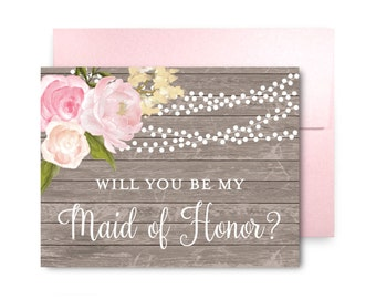Will You Be My Bridesmaid Card, Bridesmaid Maid of Honor Gift, Will You Be My Maid of Honor, Matron of Honor, Brides Man, Flower Girl #CL168