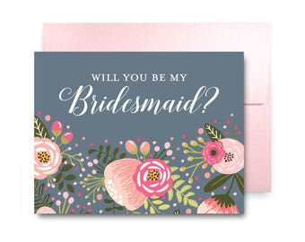 Bridesmaid Proposal Card, Will You Be My Bridesmaid Card, Bridesmaid Maid of Honor Gift, Matron of Honor, Brides Man, Flower Girl #CL126