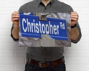 CHRISTOPHER, Poster of Christopher street, gift for him, Personalized Name Poster featuring Christopher, Name poster, Name room decor