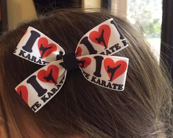 Karate; Martial Arts Hair Bow