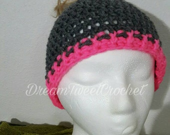 Basic Ponytail/Messy Bun hat, Adult