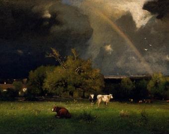 George Inness: The Rainbow. Fine Art Print/Poster. (004123)