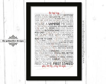 The Lost Boys - Movie - Quotes & lyrics Typography - PRINT