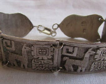 950 Silver Llama Link Bracelet