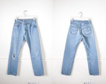 Levi's 501 Jeans, Destroyed Jeans, Button Fly Levi Jeans, Boyfriend Jeans, 80s Jeans, High Waist Jeans, Slim Fit Denim Jeans, Straight Leg