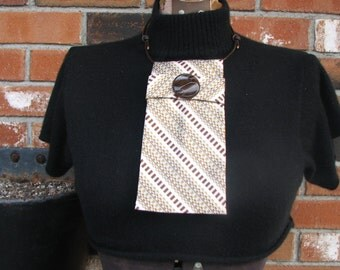 Necktie Necklace - Ladies Necktie - Refashioned Necktie