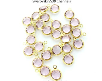 Swarovski channels SS39 in Light Amethyst.  Price is for 10 pieces