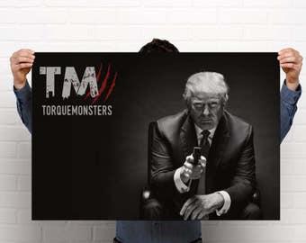 Donald Trump TorqueMonsters Poster