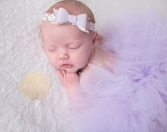 NEWBORN TUTU SET,Half Newborn Tutu, ,Lavender Newborn Tutu and Headband Set, Baby Shower Gift,Photography Prop