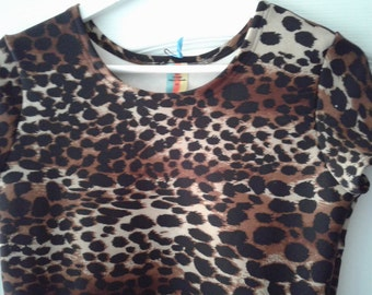 Blouse Tee Top T Shirt Animal Print