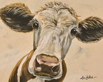 Cow art print from original canvas cow painting, cow art cow decor, cow prints, cow art, cow decor