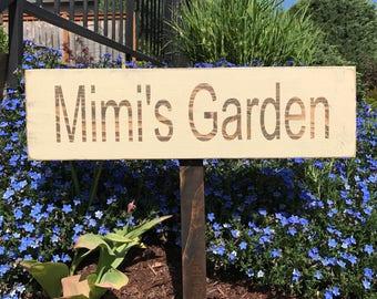 Personalized Custom Garden Wood Sign   Garden Signs   Garden Decor    Outdoor Gardening   Outdoor