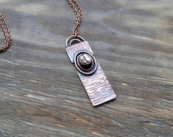 Coffee copper pendant, jewelry for coffee lovers, coffee beans copper-plated, metal coffee beans, copper electroforming