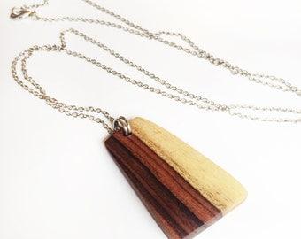 Pendant Necklace - Brazilian Rosewood