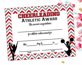 Instant download cheerleading certificate cheerleading instant download cheerleading certificate cheerleading award cheerleading printable cheerleading achievement end yelopaper Image collections