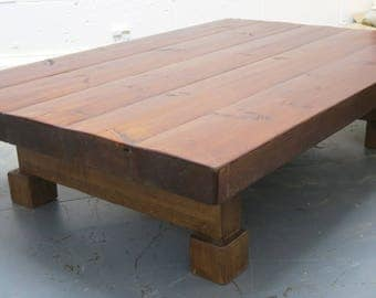 Extra Large 3 Inch Thick Chunky Rustic Coffee Table 150cm x 100cm - 072
